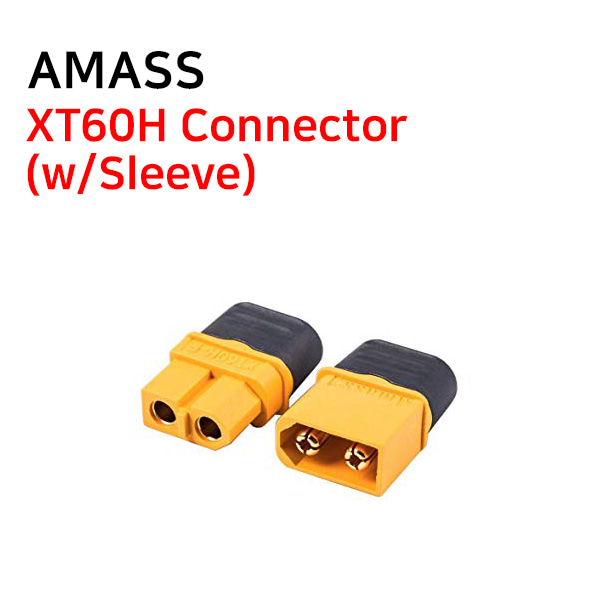 [AMASS] XT60H Connector(w/Sleeve)
