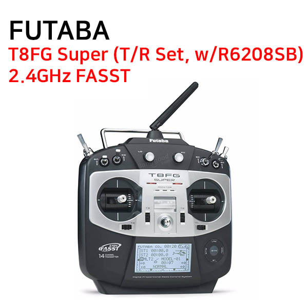[FUTABA] 후타바조종기 T8FG Super (T/R Set, w/R6208SB) - 2.4GHz FASST