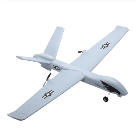 Z51 Super Big 66cm Wingspan Remote Control Airplane Glider EPP Built-in Gyroscope RC Plane UAV with LED Military Aircraft Model